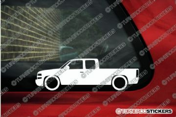 2x Stock Chevrolet Silverado 1500 Extended cab pickup ( 1999-2002 ) outline stickers